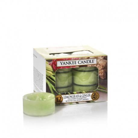 Yankee Candle Lemongrass e Ginger Tea Light Profumate