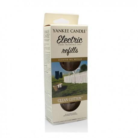 Yankee Candle Clean Cotton Ricarica Diffusore Elettrico 2 pz