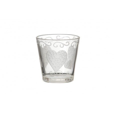 Yankee Candle Porta Votivo Etched Hearts