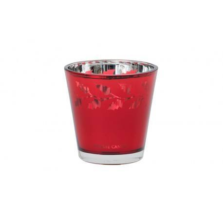 Yankee Candle Porta Votivo Holly Rosso