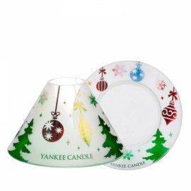 Yankee Candle Paralume Grande e Piattino Grande Deck the Halls