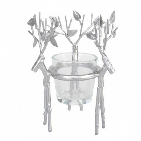 Yankee Candle Porta Votivo Silver Reindeer