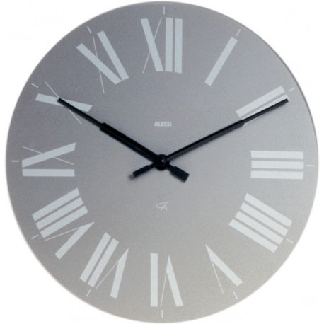 Alessi firenze orologio da parete grigio 12 g for Orologio da cucina design