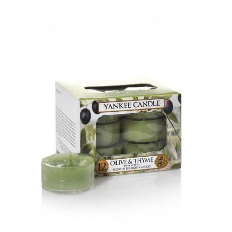 Yankee Candle Olive e Thyme Tea Light Profumate